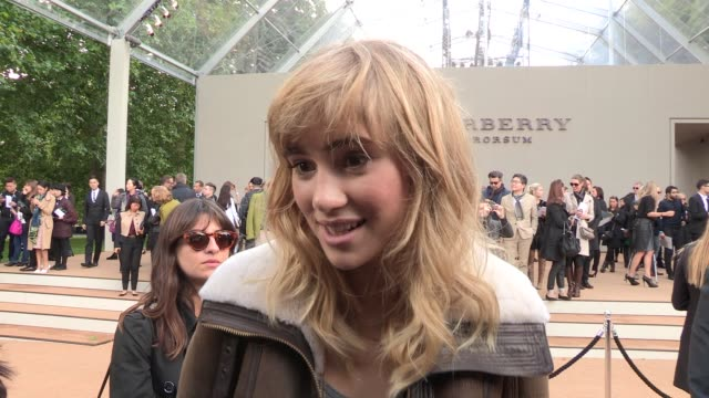 INTERVIEW Suki Waterhouse on Burberry dancing at Kensington on September 16 2013 in London England