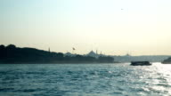 4K: Suleymanie Mosque from the Galata Bridge in Istanbul. - Stock video
