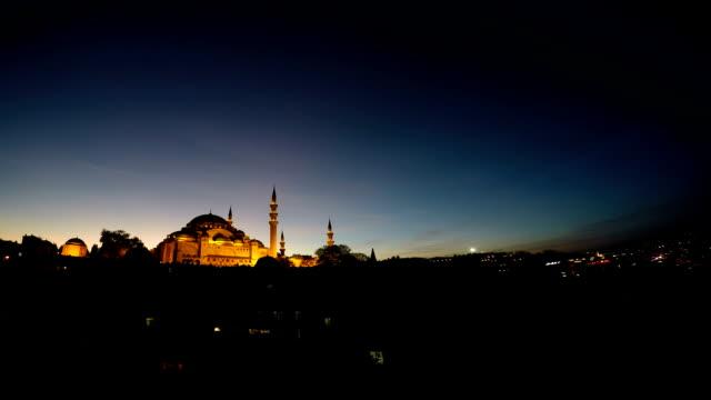 Suleymaniye moskee 's nachts