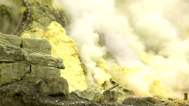 Sulfur Mine Khawa Ijen Indonesia
