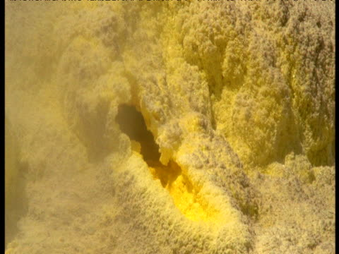 Sulphur encrusted vent, White Island, New Zealand