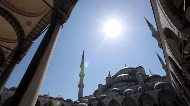 MS LA PAN Sultan Ahmed Mosque (Blue Mosque) against blue sky / Istanbul, Turkey