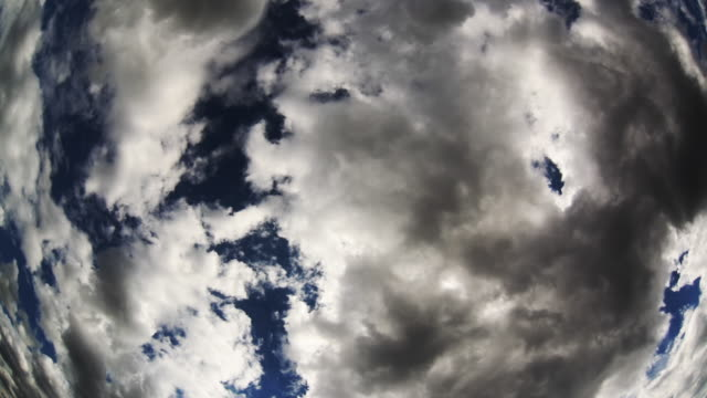 Summer clouds. Time lapse