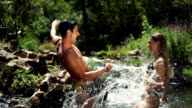 Summer fun in river
