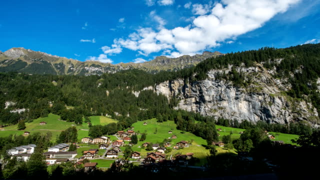 summer Lauterbrunnen Valley in Switzerland