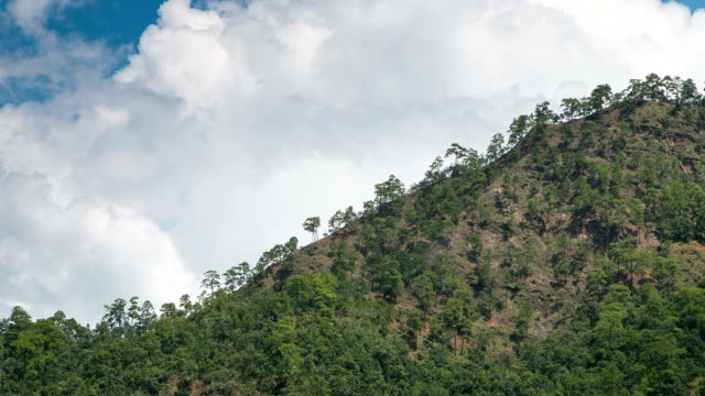Summer mountains landscape, time-lapse