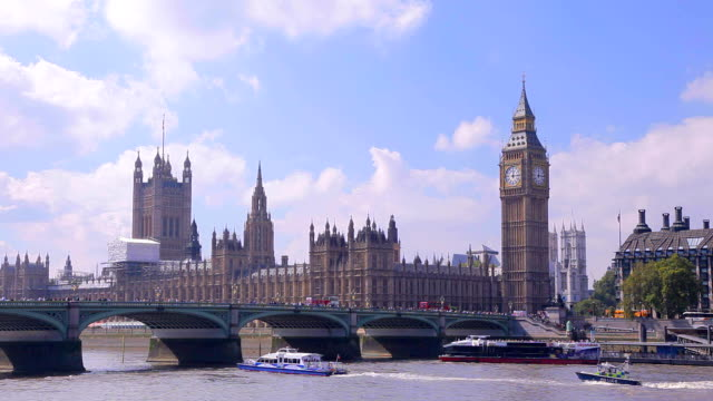 Summer tiime in City of Westminster, London