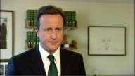 David Cameron interview ENGLAND London INT David Cameron MP interview SOT we had an excellent meeting and we discussed a range of economic matters...