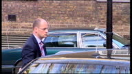 Russian President Dmitri Medvedev arrives at No 10 ENGLAND London Downing Street EXT Limousine with Dmitri Medvedev inside along through iron gates /...