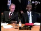 Situation in Africa POOL CANADA Alberta Kananaskis Jean Chretien and South African President Thabo Mbeki seated at talks BV UN Secretary General Kofi...