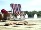 A sun chair on a jetty Sweden.