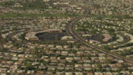 MS AERIAL Sun City church in the middle and pull out to entire development / Phoenix, Arizona, United States