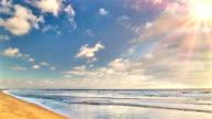 Sun opposite beach