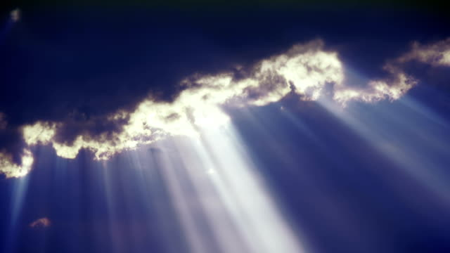 Sun ray through black sky-2