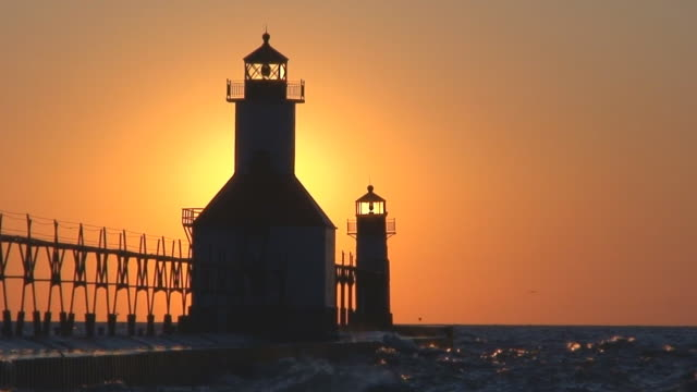 Sun Setting Behind Lighthouse Part 11