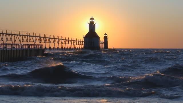 Sun Setting Behind Lighthouse Part 6