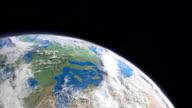 Sonne scheint über Planet Earth