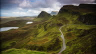 Sun shining in the mountains of Quiraing - Isle of Skye - Scotland