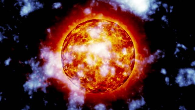 Sun Oberfläche und solar ausgestellt animation