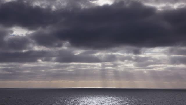 Sunlight breaking over the ocean