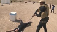 Sunni forces get military training in Mosul military camp to battle with Daesh in Mosul Iraq on 11 May 2015