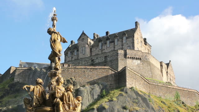 Sunny Edinburgh Castle, Close - HD & PAL