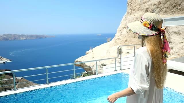 Sunny idyllic day in luxury resort