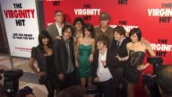 Sunny Leone Adam McKay Justin Kline Matt Bennett Nicole Weaver Jacob Davich Zack Pearlman and Krysta Rodriguez at the 'The Virginity Hit' Premiere at...