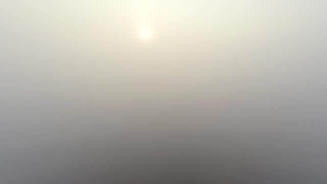 Veduta aerea Tramonto sopra le nuvole
