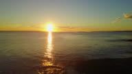 4K Sunrise Aerial View of an empty Huskisson beach, Australia