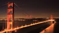 Sunrise behind Golden Gate Bridge