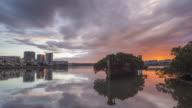 Sunrise from SS Ayrfield Shipwreck. Sydney Olympic Park
