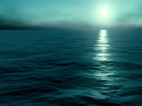 Sonnenaufgang am Meer. Schleife.
