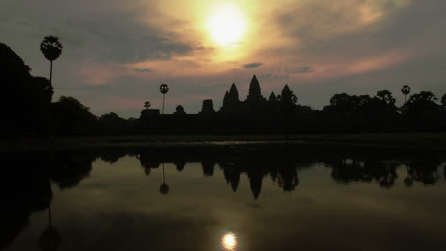Sunrise on Angkor Wat Temple in Cambodia