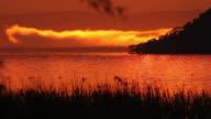 sunrise on lake baringo, kenya
