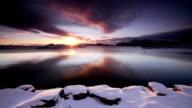 Sunrise over Arctic Fjord