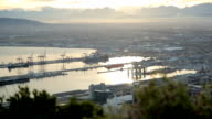 PAN Sunrise over Cape Town harbour from Signal Hill, Cape Town, South Africa