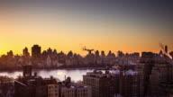 Sunrise over Central Park, Manhattan - Time Lapse
