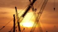 Sunrise over Construction Site