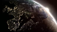 Sunrise over Europe