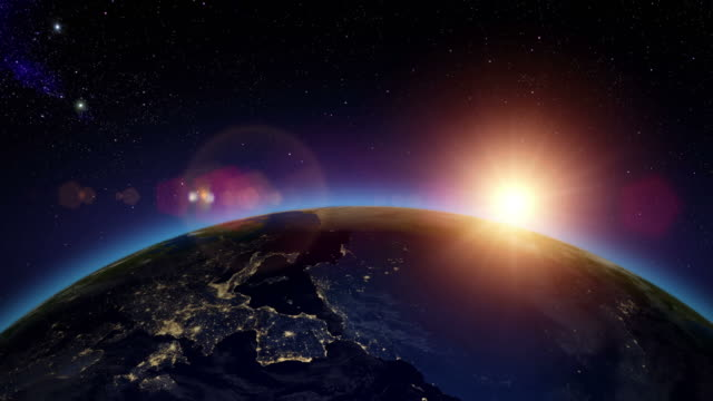 Sonnenaufgang über Europa