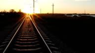 Sunrise over railway