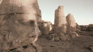 HD: Sunrise, Skulpturen der Commagene Königreich, Nemrud Mountain, Türkei