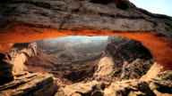 MS TD Sunrise seeing through natural opening /  UTAH,United States