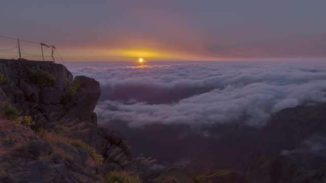 Sunrise through the clouds of Madeira