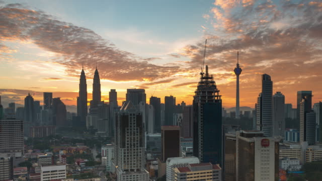 Sunrise Time Lapse at Petronas Towers