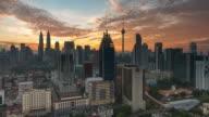 Sunrise Time Lapse overlooking Kuala Lumpur Cityscape