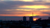 Sunrise with clouds timelapse
