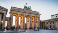 Sunset at Brandenburg Gate of Berlin, Germany