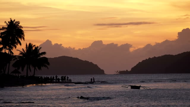 Sunset at Corong-Corong beach, Philippines